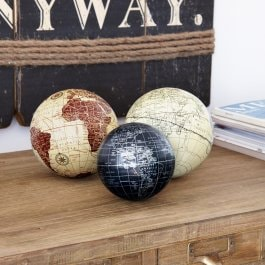 Decoratieballen set van 3 World bont
