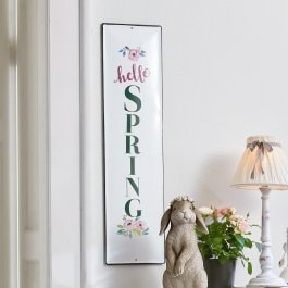 Decoratief schild Hello Spring