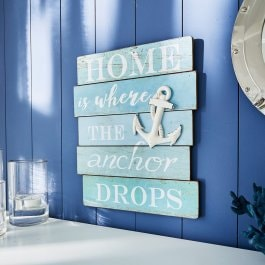 Decoratief board Drop blauw