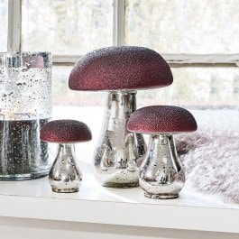 Decoratieve paddenstoelen, set van 3 Vejolles