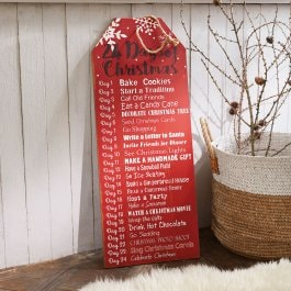 Decoratief board Lucca rood/wit
