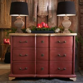 Commode Terre Rouge rood/bruin