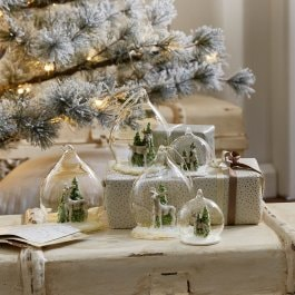 Kerstversiering, set van 5 Winterforest helder