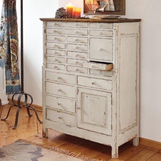 Commode Fairfield wit/bruin