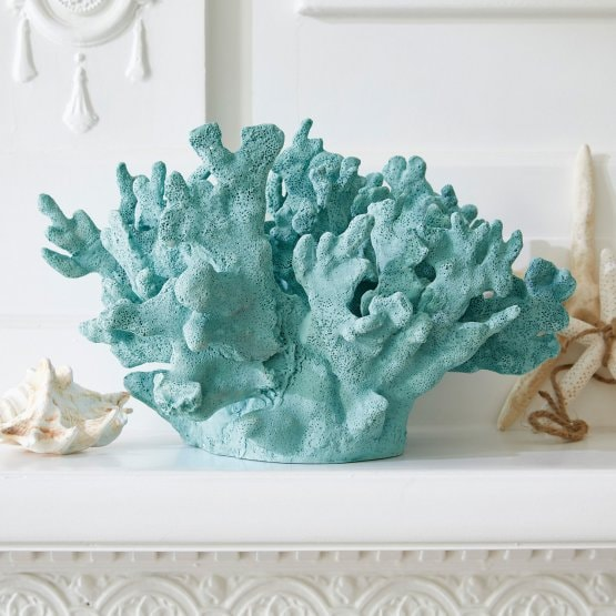 Decoratief koraal Shelbie turquoise
