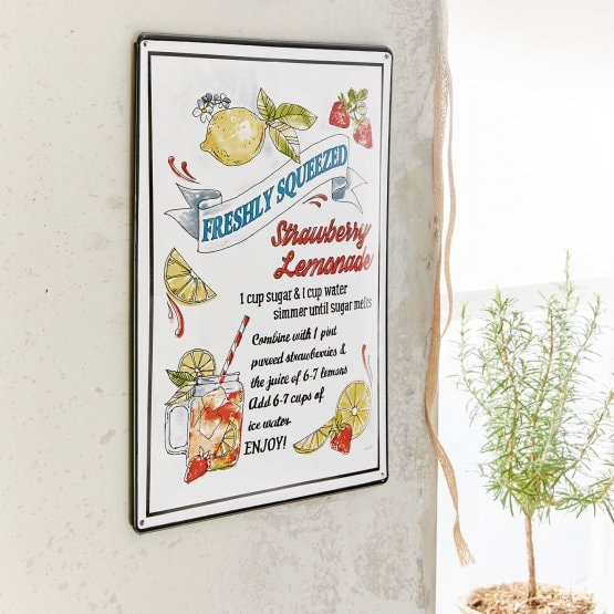 Decoratieboard Lemonade bont