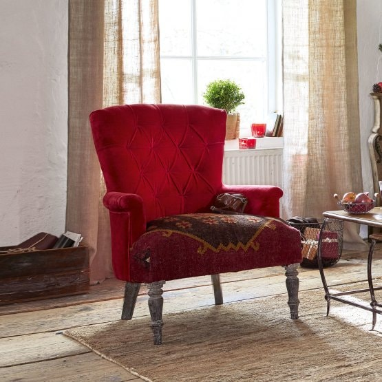 Fauteuil Hinsdale rood