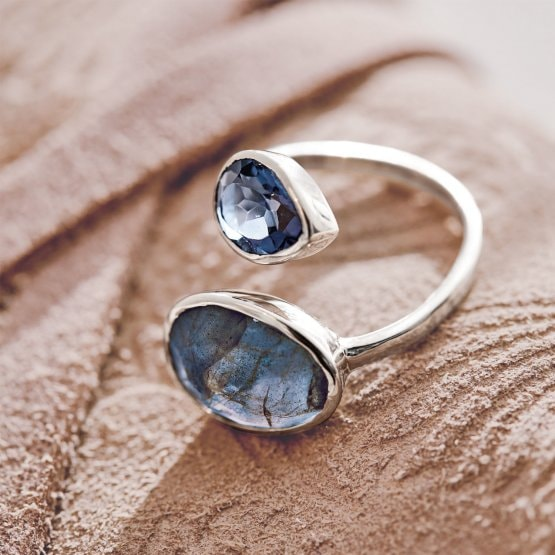 Ring Meadow blauw