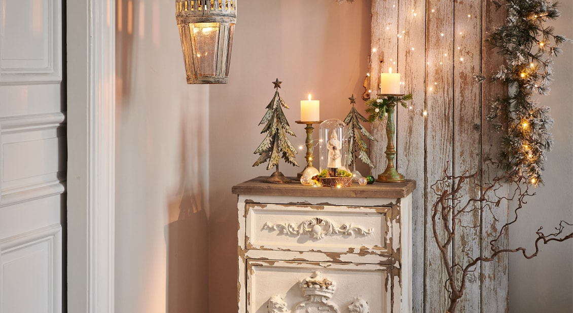 Shabby chic in kerststijl